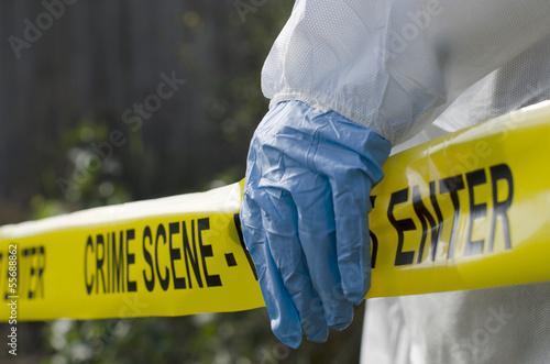 Leinwanddruck Bild Crime Scene Investigation