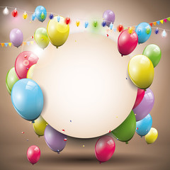 Sweet birthday background with place for text