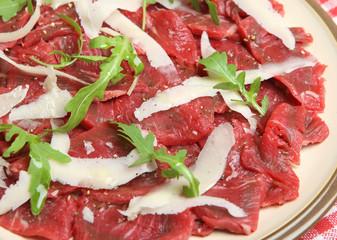 Beef Carpaccio with Parmesan Shavings