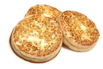 Toasted Crumpets with Butter