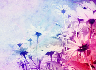 Abstract flowers colorful background