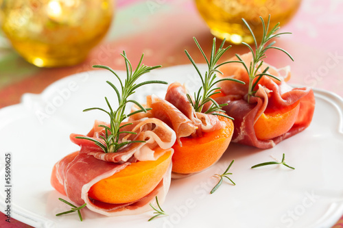 Prosciutto with apricots