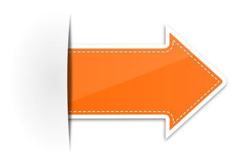 Pfeil Schild orange
