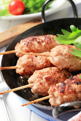 Minced meat kebabs