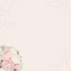 pink wedding background with rose peony