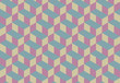 3d Cube Vector Seamless Pattern.