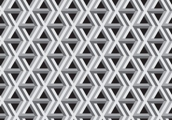 3D Impossible Shape Vector Seamless Pattern.