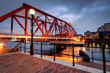 Cast iron bridge at Salford Quays
