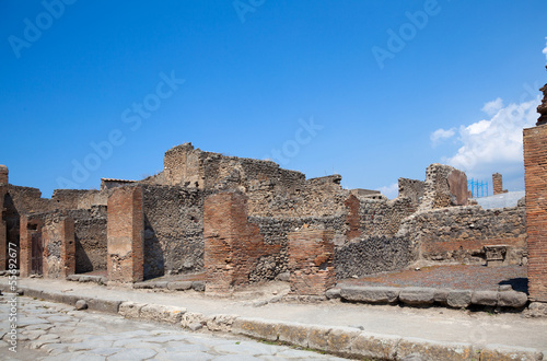 ancient Roman city of Pompeii, which was destroyed and buried by