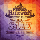 Halloween sale card