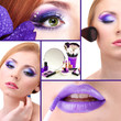 Beautiful make-up collage