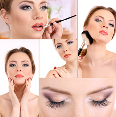 Beautiful make-up collage