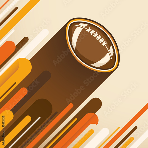 American football illustration.