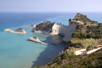 Cape Drastis at Corfu island in Greece.
