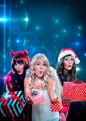 Plakat Weihnachten mit Textfreiraum / wild times 04