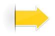 Pfeil Sticker gelb