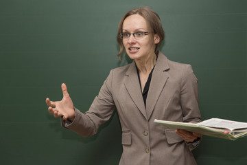 Annoyed teacher