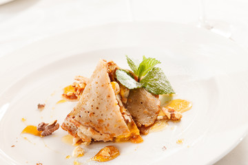 crepes with honey and walnuts