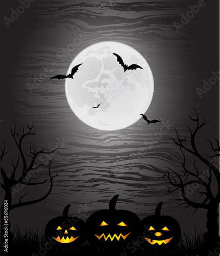 mystical fairytale background for Halloween