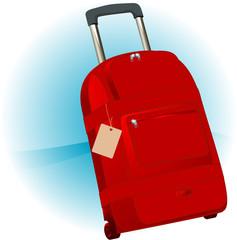 Travel bag. Vector.