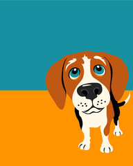 Illustration of a funny beagle
