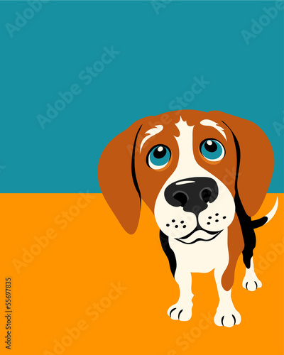 ilustracja-smieszny-beagle