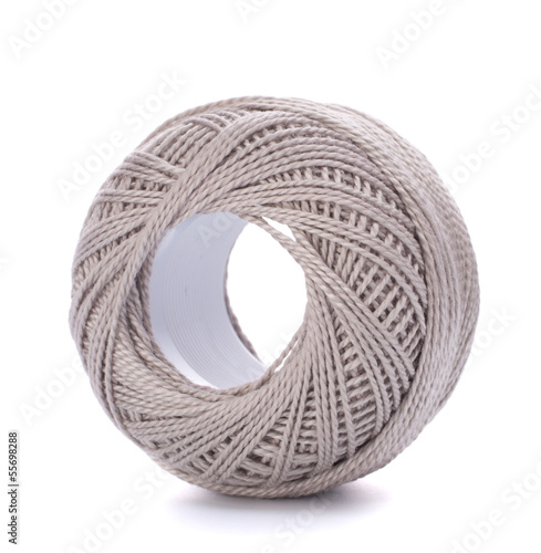 spool of grey thread