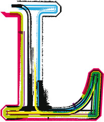 Colorful Grunge LETTER L