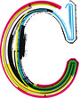 Colorful Grunge LETTER C