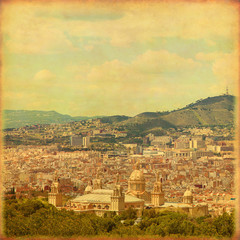 Old style image of Barcelona.