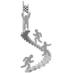 Steps Finish Black and White