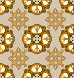 Seamless ornament pattern tile