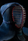 Men - kendo head protection gear, vertical shot
