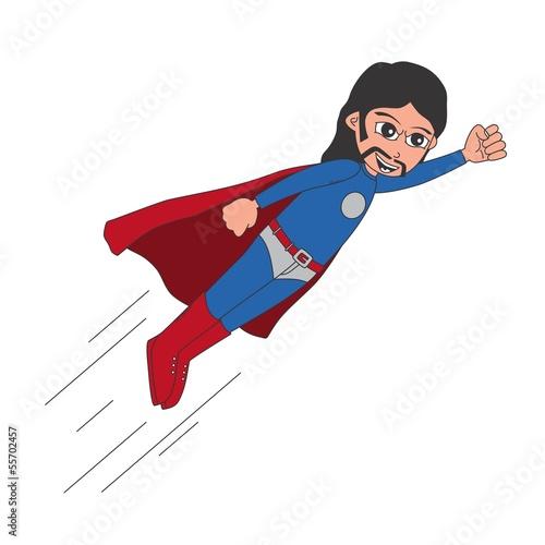 long hair superhero