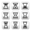 Hourglass, sandglass vector icon set