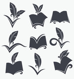 vector collection of reading, writing, poetry, literature and hi