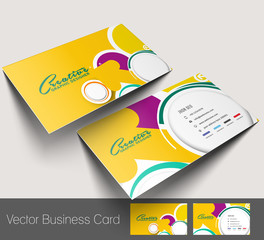 Vector business card set