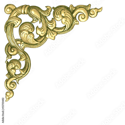 Gold flower frame border.