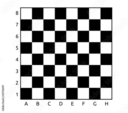 Simple black and white chess table