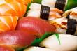 Japanese sushi close up