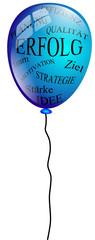 Luftballon Erfolg blau