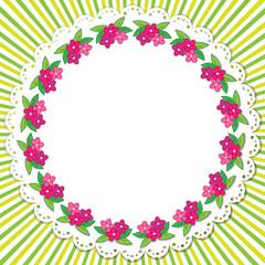 Flowers frame 2