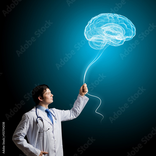 Male doctor neurologist
