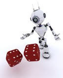 Robot with dice