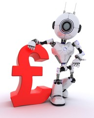 Robot with pound sign