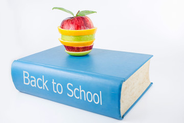 Back to school on a white background