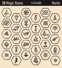 Antique Magic Runes