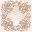 Abstraction floral lace pattern circular.