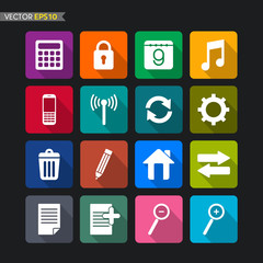 Website icons vector set 2