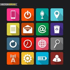 Website icons vector 1